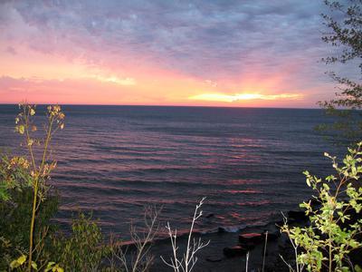 Early Morning Sunrise over Lake Superior, MI