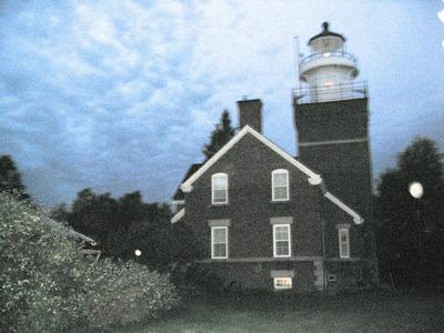 Lighthouse during early morning hours