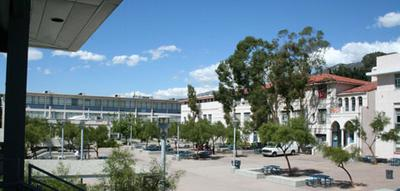 this is a picture of the quad on the right is the main building the 1000 build and to the left is the 2000 building