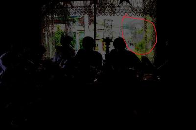 this image shows a nurse (the ghost became clearer when the image is darkened)