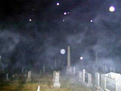 Ghost Orbs Captured In Cemetery USA, Ghost Sightings