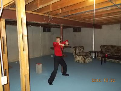 This is the picture my sister took while I was dancing. There are two orbs that I can clearly see.