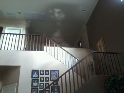 shadow face on ceiling