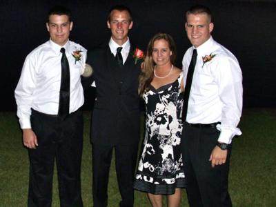 Mom and sons