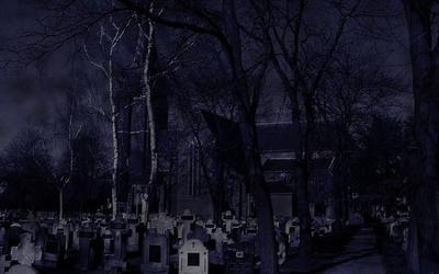 the cemetery!